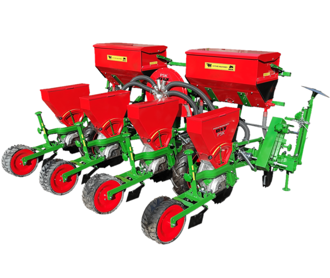 Pneumatic seeder PSK-4 (with wide rubber tread wheels)